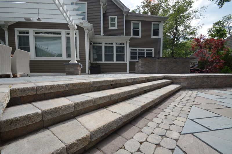 Artistic Landscaping Steps to Patio