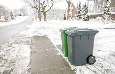 Trash Cans in the Snow