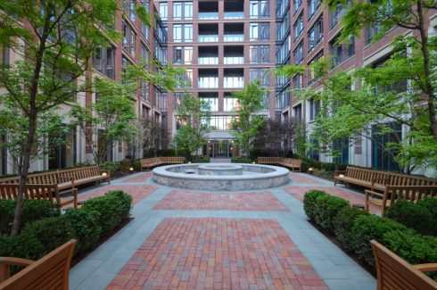 Urban Landscaping at West Village Residences NY