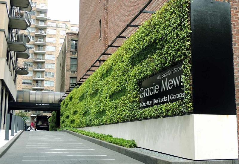 urban landscape green living wall nyc