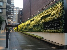 Green Wall at Gracie Mews in New York City